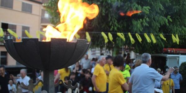 ARRIBADA DE LA FLAMA DEL CANIGÓ A BELLPUIG