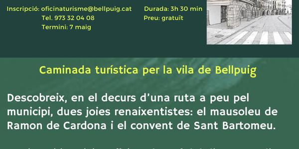 """Caminada turística per Bellpuig """"Descobreix l'Urgell Ignasià"""""""