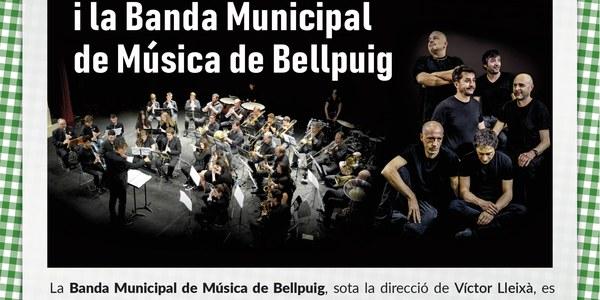 Concert amb Brams i la Banda Municipal de Música de Bellpugi