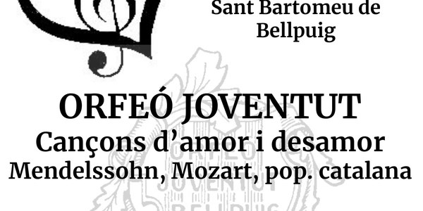Concert amb Orfeó Joventut. Cançons d'amor i desamor