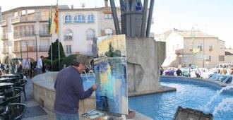 Exposició de quadres de pintura ràpida i cartells de la Festa Major