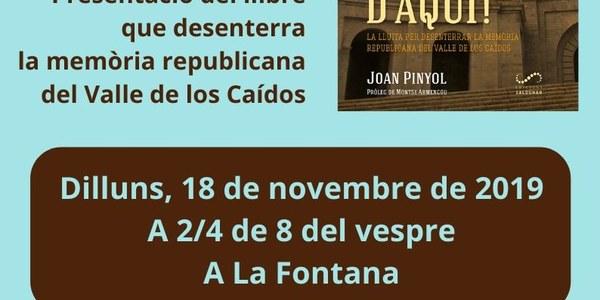 """Presentació del llibre """"Avi, et trauré d'aquí!"""" de Joan Pinyol."""