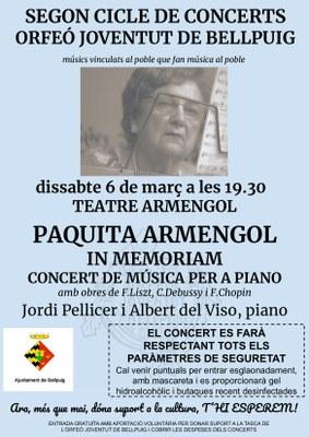 Segon cicle de Concerts Orfeó Joventut de Bellpuig