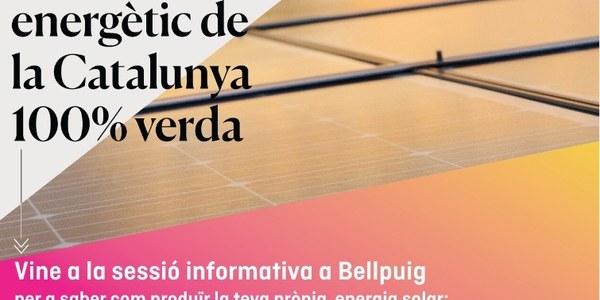 Sessió informativa: Lleida, referent energètic de la Catalunya 100% verda