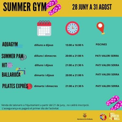 Summer Gym: Aquagym, Summer Pam, Hit, Ballaruca i Pilates Exprés