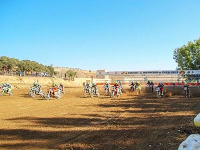 5a prova del Campionat de Catalunya de Motocròs de nens a Bellpuig