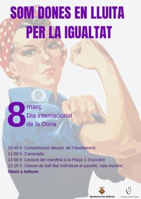 Cartell Dia Internacional de la Dona a Bellpuig 2019.jpg