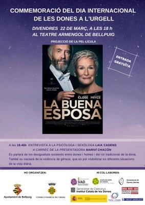 Cartell Dia Internacional de les Dones a l'Urgell Teatre Armengol de Bellpuig.jpg