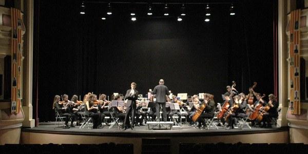 """Actuació de """"l'Orquestra Simfònica del Conservatori de Manresa"""" en el 6è Cicle de concerts """"Bellpuig Ressona"""""""
