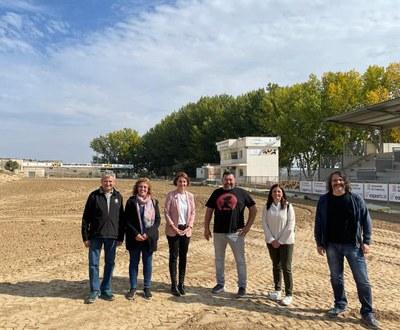 Anna Caula, secretaria general d'Esports visita les instal·lacions del Circuit de Motocròs de Catalunya