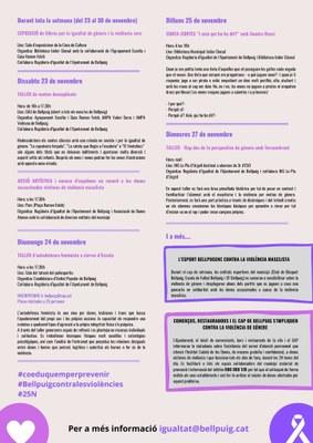 Cartell Actes 25N Dia Eliminació violència envers dones a Bellpuig 2019 2.jpg