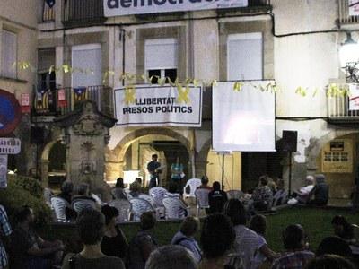 Bellpuig commemora el segon aniversari del dia 1 d'octubre de 2017