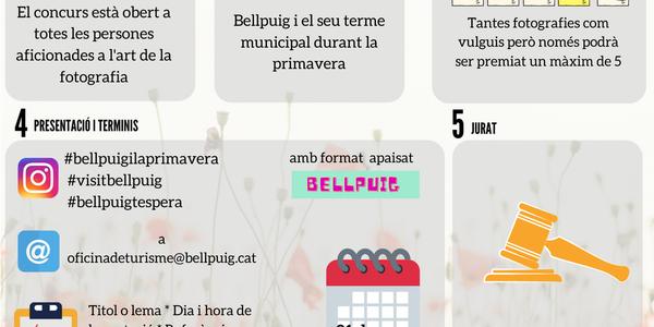 Bellpuig convoca un concurs de fotografia per instagram per aquesta primavera