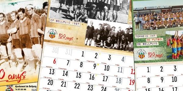 Bellpuig edita un calendari per commemorar  el Centenari del Club de Futbol Bellpuig