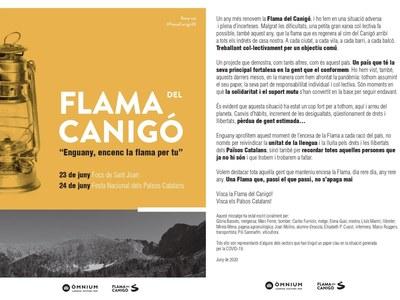 Bellpuig porta la Flama del Canigó un any més a les terres de Lleida