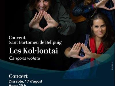 """Concert de """"Les Kol·lontai"""" al Convent de Sant Bartomeu de Bellpuig."""