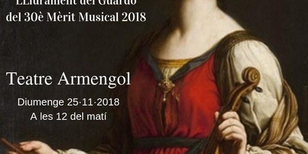 Concert de Santa Cecília de Bellpuig 2018i lliurament del 30è mèrit musical de l'any.