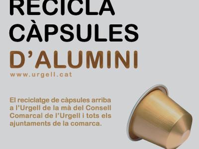 Contenidors de reciclatge de capsules de cafè al pavelló poliesportiu