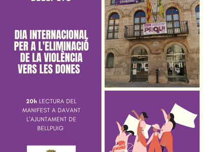 Dia 25N a Bellpuig: Lectura del Manifest