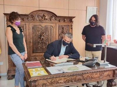 El delegat del govern, Bernat Solé, es reuneix a Bellpuig amb l'alcalde i recull les inquietuds del municipi