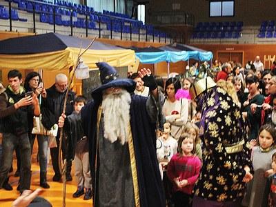 El Mag Galderic visita el Parc de Nadal de Bellpuig per recollir les cartes  de Ses Majestats els Reis Mags d'Orient