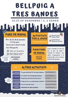 El Parc de Nadal de Bellpuig innova amb una proposta a tres bandes que inclou activitats per a joves