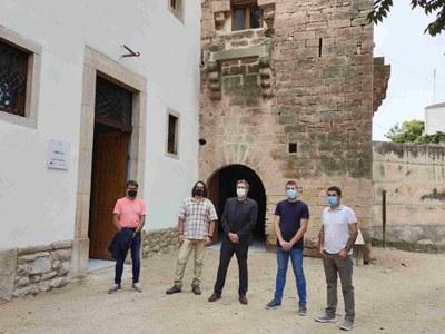 El president de la Diputació visita les obres realitzades al molí de Bellpuig