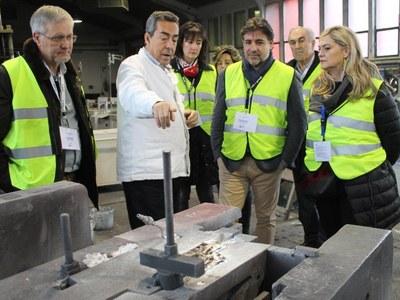 Fundicions Monfort i Orbitel de Bellpuig dins del programa  del Secretari d'Administracions Locals i de Relacions amb l'Aran del Departament de la Presidència amb motiu de la seva visita a l'Urgell