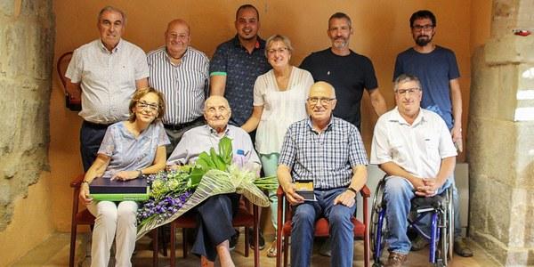 Homenatge a un veí centenari de Bellpuig