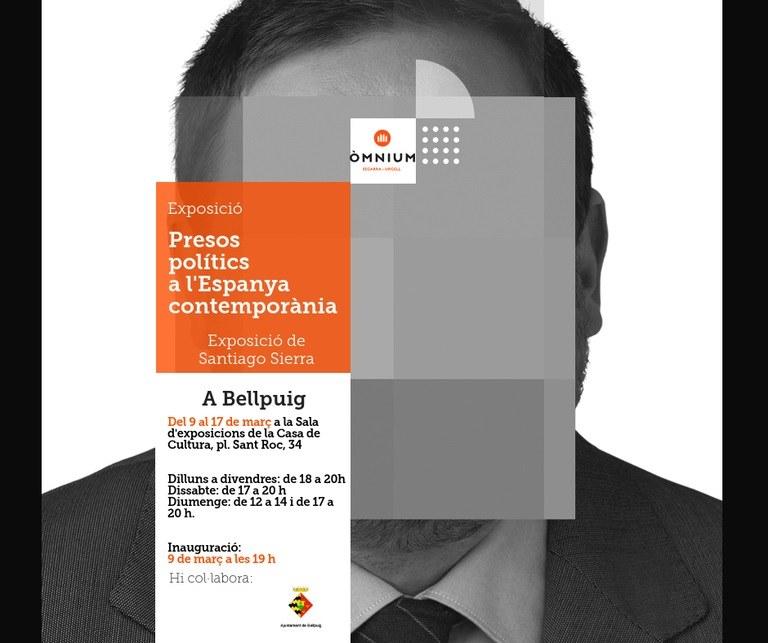 Cartell Exposició Presos Polítics a l'Espanya contemporània a Bellpuig.jpg