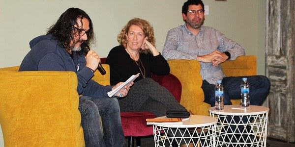 """Marga del Campo i Jordi Vicenç Pou expliquen a Bellpuig com van viure """"l'Operació Trasllat"""" de l'Art de Sixena"""