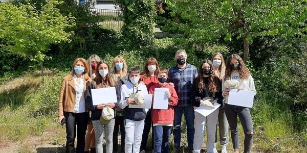 Alumnes i professors de l'IES Lo Pla d'Urgell