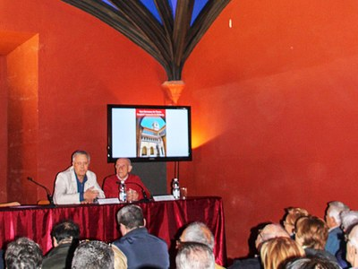 """Presentació a Bellpuig, del llibre: """"Sant Bartomeu de l'horta hospital i monestir de Bellpuig"""" de Jaume Torres i Gros"""