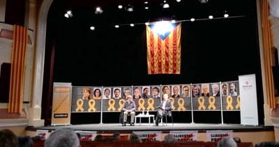 """Presentació del llibre de Vicent Partal,  """"Nou homenatge a Catalunya""""  a Bellpuig"""