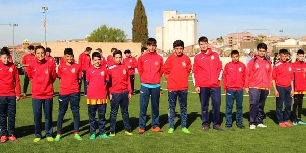 """Presentació dels equips de futbol de Bellpuig  de la temporada 2018-2019 al nou camp de """"gespa artificial"""""""