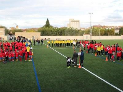 Presentació dels equips de futbol de Bellpuig  de la temporada 2019-2020