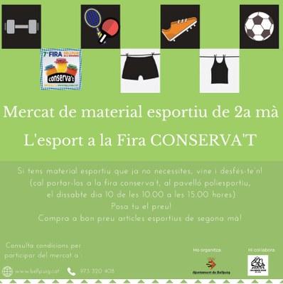 Cartell 7a Fira Conserva't de Bellpuig Mercat material esportiu 2a Mà.jpg