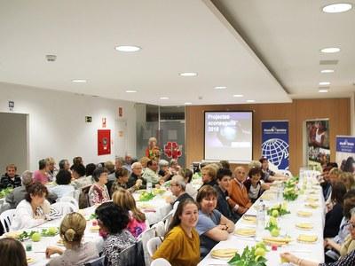 Sopar solidari de Mans Unides  a Bellpuig
