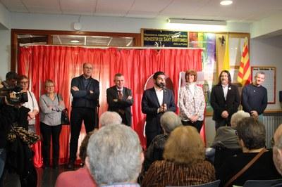 Visita del conseller de Treball, Afers Socials i Famílies a Bellpuig amb motiu de la celebració del 25è aniversari de la Residència Monestir de Sant Bartomeu.